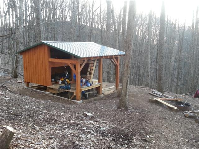 Post Frame Shelters : Long branch shelter the newest in nantahala