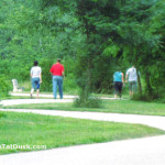 Some of the many people who enjoy the Greenway daily.