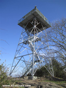 A nice view of the fire tower on Albert Mountain, NC.