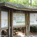 Information Kiosk at Standing Indian Campground.